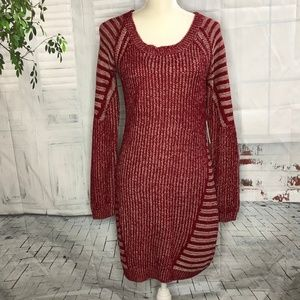Charming Charlie Long Sleeve Sweater Dress Sz L